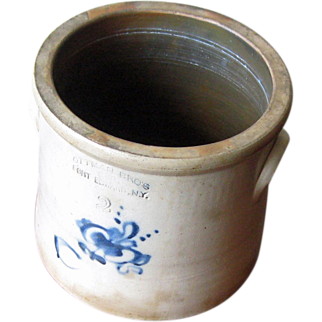 2 Gal. Stoneware Crock – Ottman Bros, NY