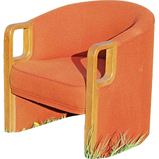A Stylish Mid Century Modern Barrel Back Tub Chair With Laminated Bentwood Arms
