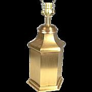 Mid Century Modern Steeple Top 6 Sided Ginger Jar Brass Lamp