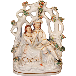 19th Century Staffordshire Figure of Romeo and Juliet