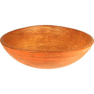 Early 19th Century Bowl with old salmon paint