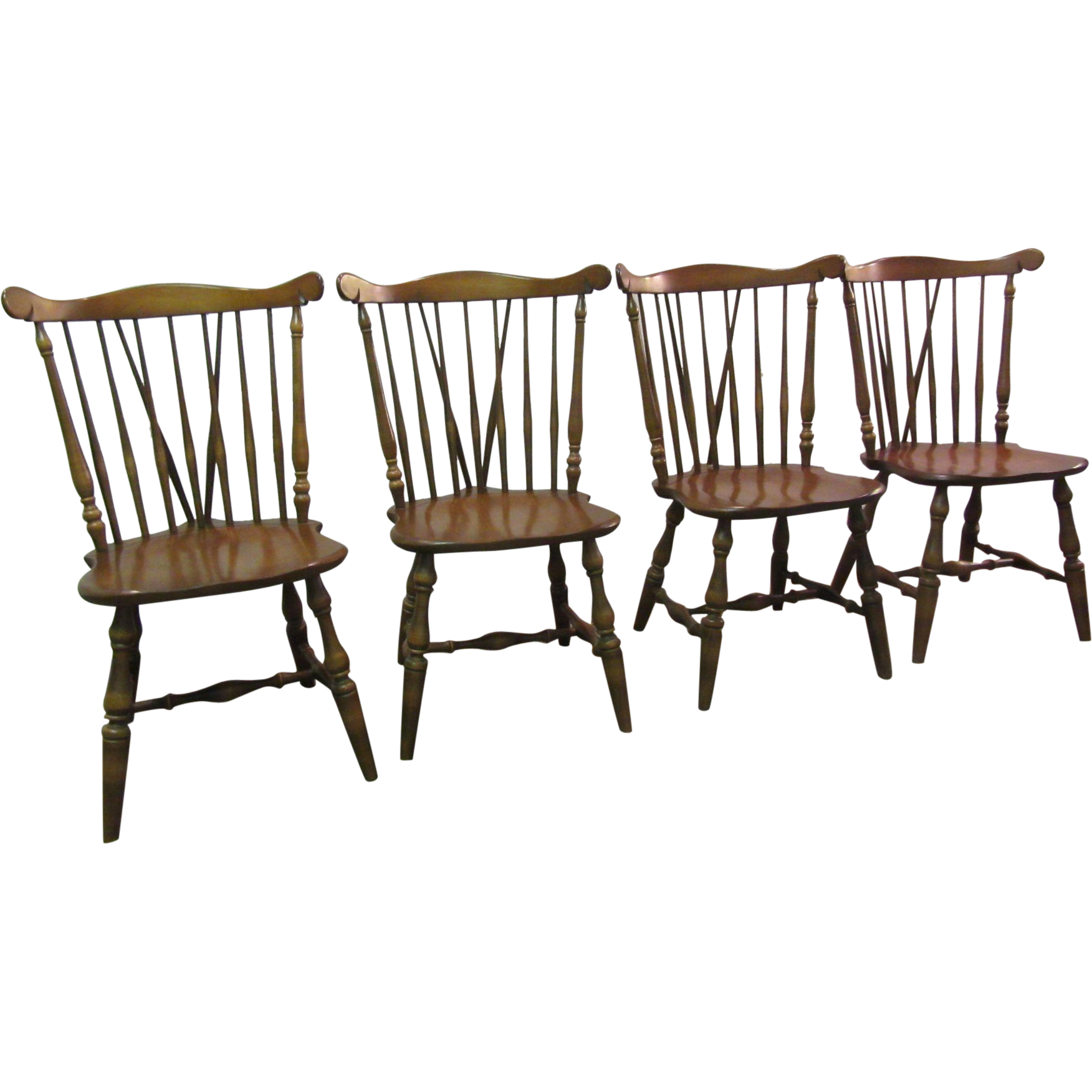 Set of 4 Kling Maple Brace Back Windsor Chairs SOLD on Ruby Lane