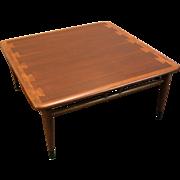 Mid Century Danish Modern Walnut Andre Bus Design Coffee Table