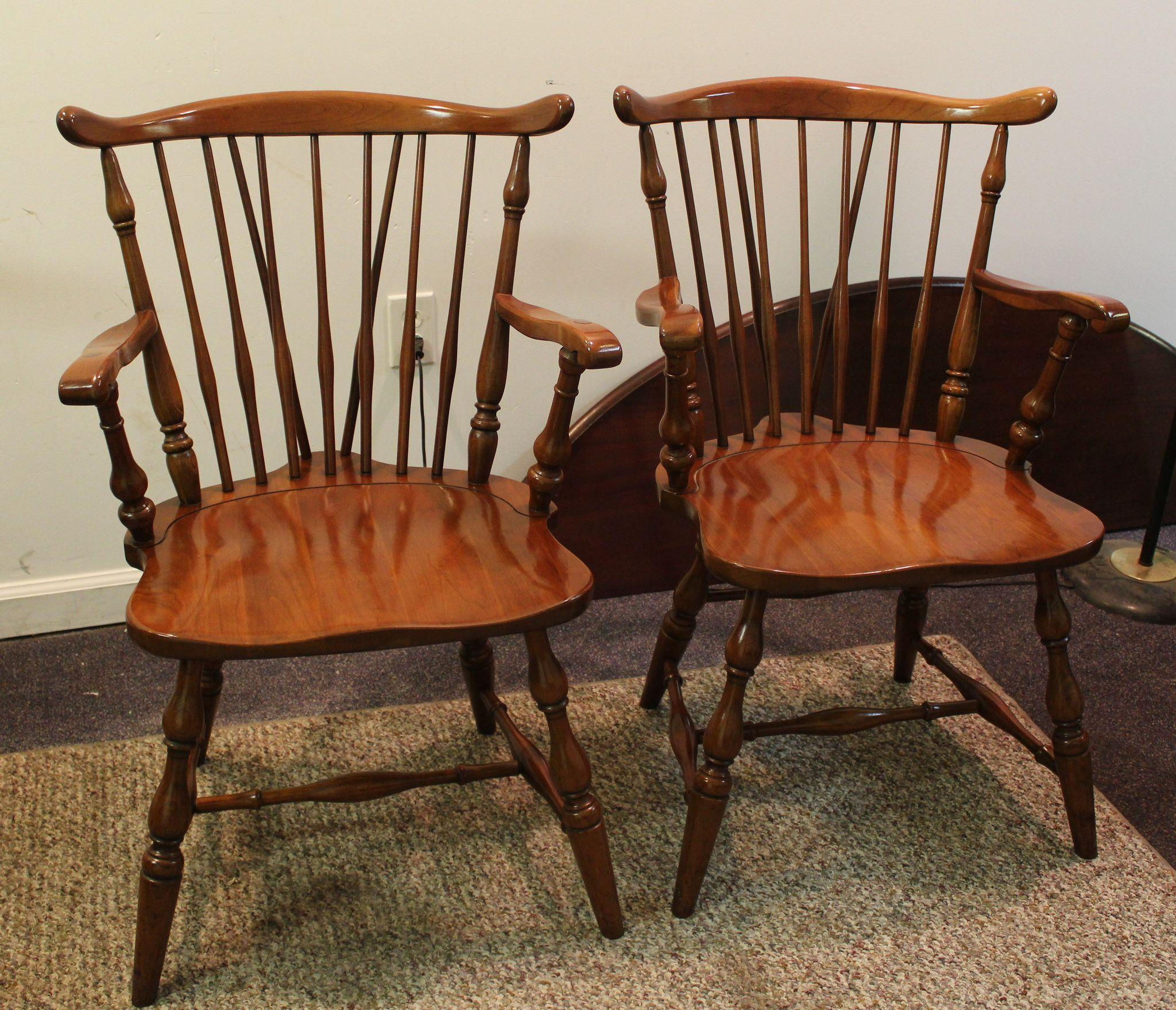 Set of 8 Pennsylvania House Brace Back Windsor Dining Chairs SOLD