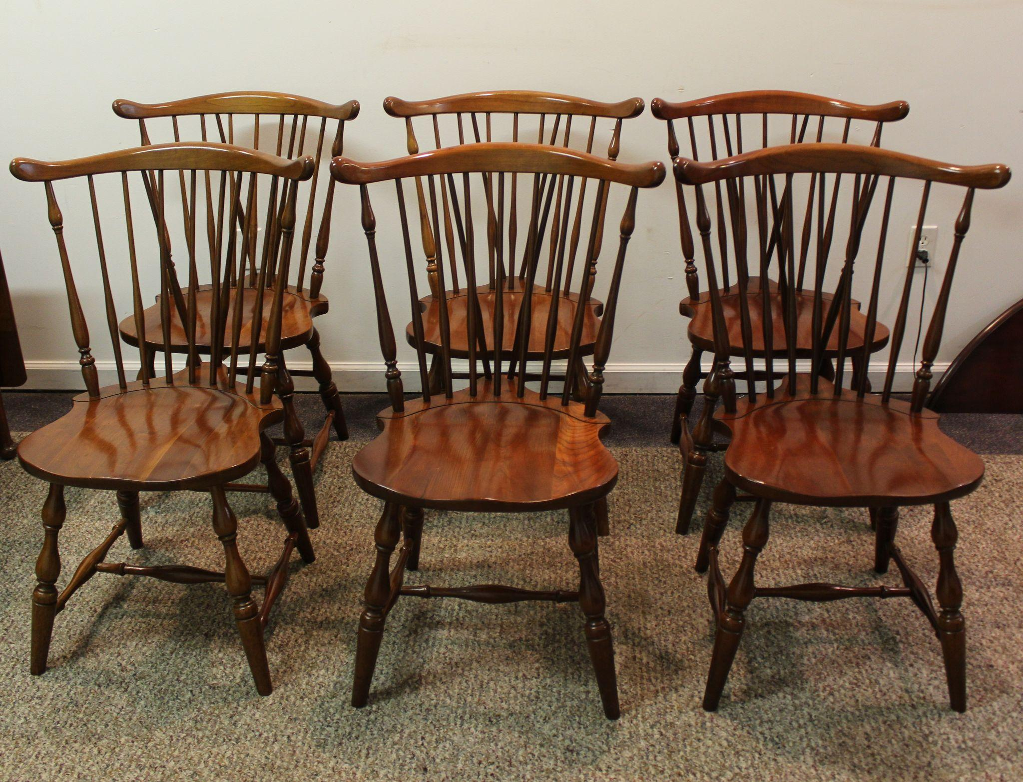 roll over large image to magnify click large image to zoom. set of  pennsylvania house brace back windsor dining chairs sold