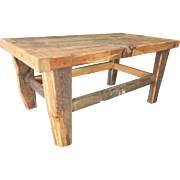 Reclaimed Pine Wood Peg Jointed Coffee Table