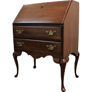 Traditional Queen Anne Cherry Ladies Slant Front Desk/Secretary