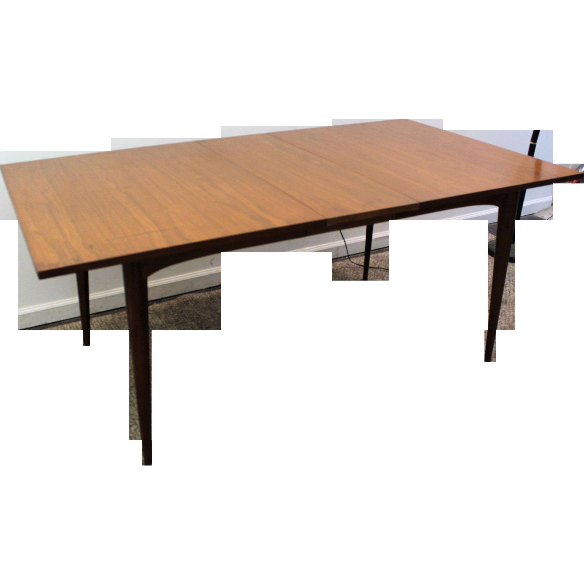Danish Modern Dining Table Mid Century Danish Modern Walnut Surfboard Dining Table W