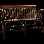 Vintage Spindle Back Nichols & Stone Bench