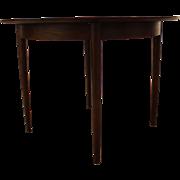 Mid Century Danish Modern Unusual Round Walnut Dining Table w/ Extensions