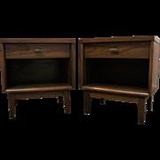 Pair of Mid-Century Danish Modern 1-Drawer Walnut End/Side Tables