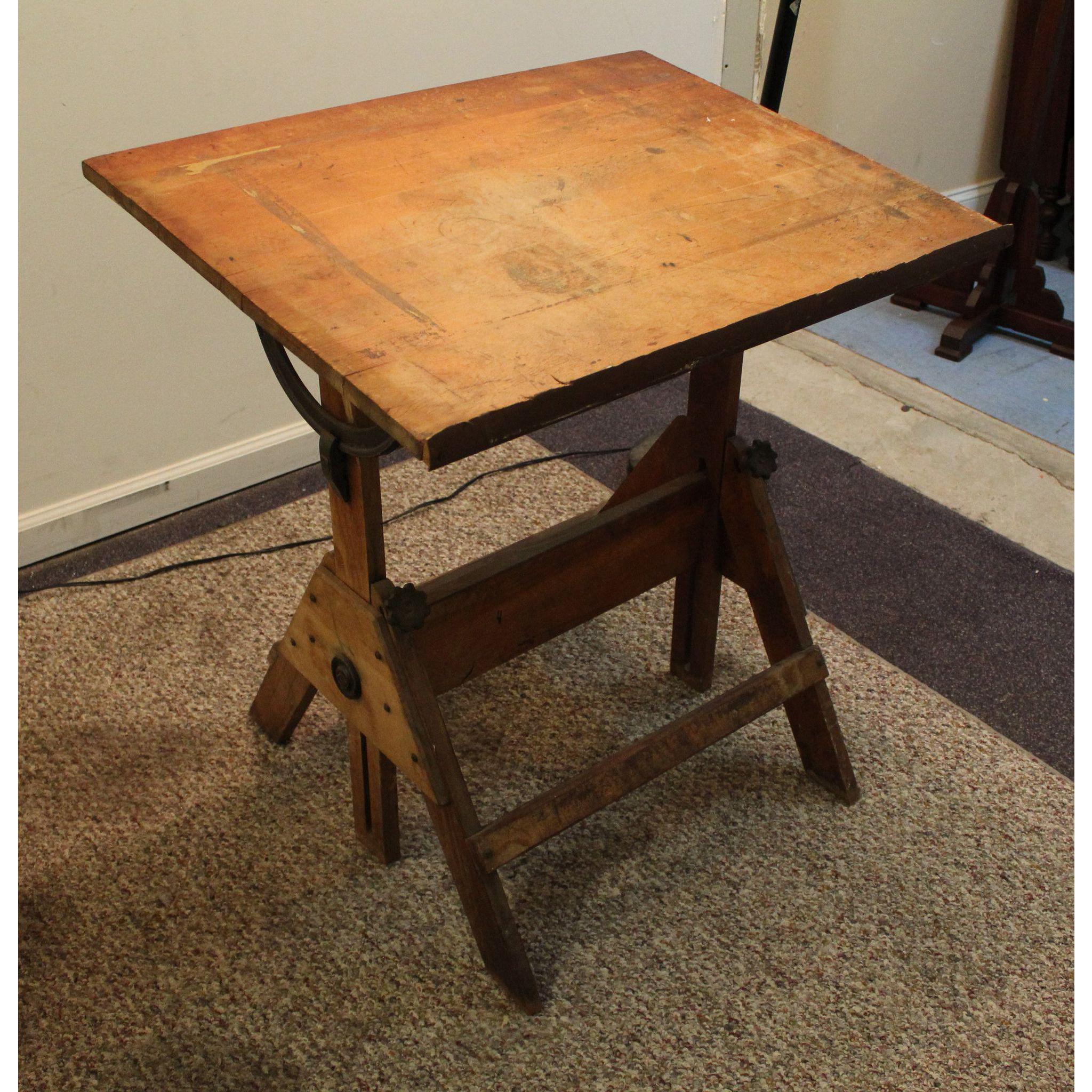 Amazing Vintage Anco Bilt Adjustable Drafting Table/Desk