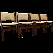 Set of 4 Mid-Century Danish Modern Wegner-Style Teak Dining Chairs