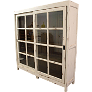 Painted Country French White Sliding Door Pantry