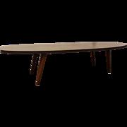 Mid-Century Danish Modern Walnut Surfboard Coffee Table