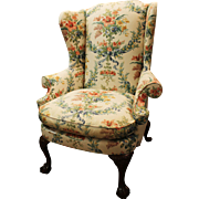 Chippendale Ball & Claw Fire Side Wing Chair by Southwood #1