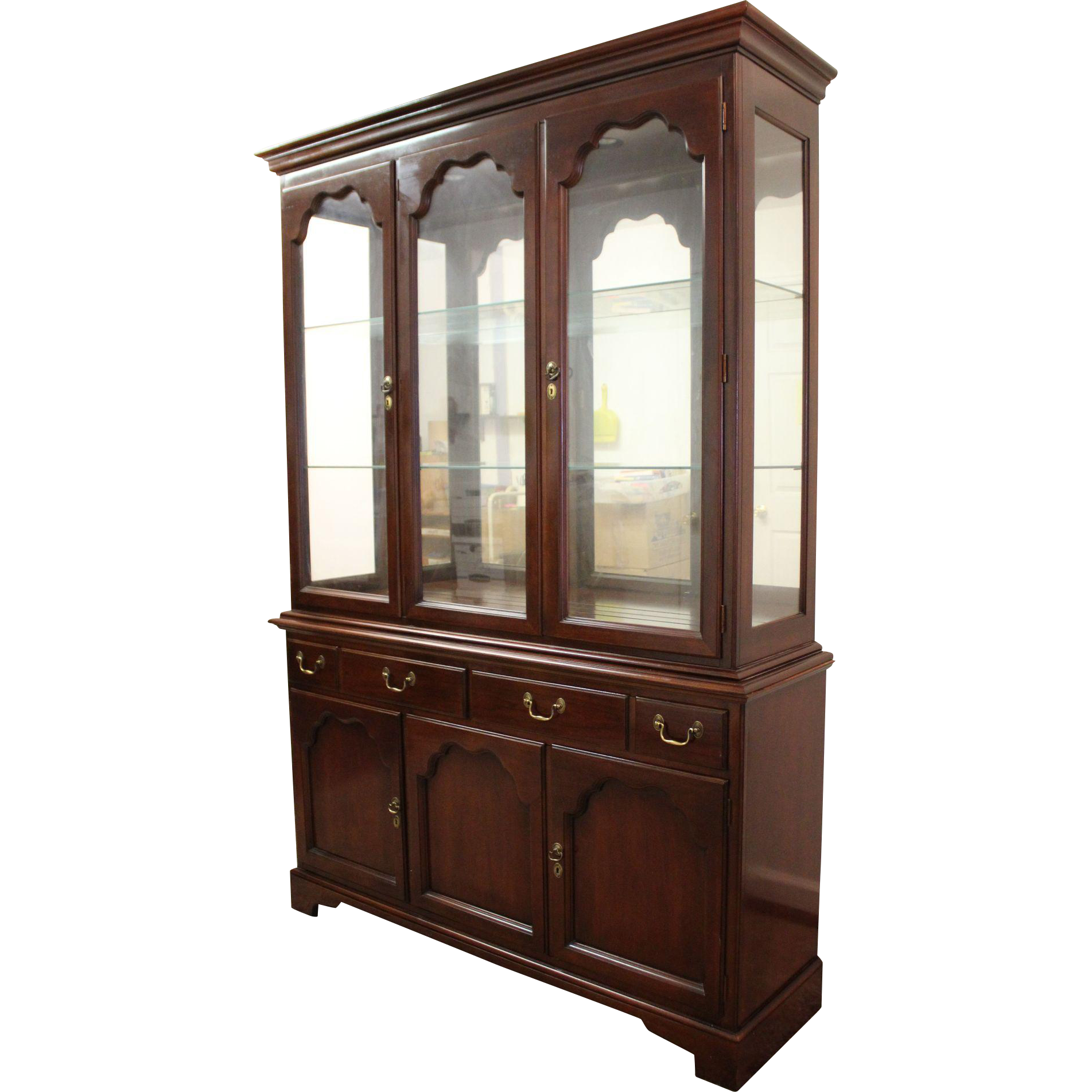 Drexel heritage cherry china cabinet mf cabinets for China cabinet