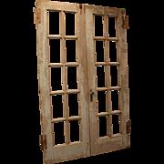 Pair of Antique Architectural Salvage Doors #3