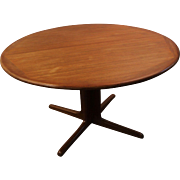 Mid Century Danish Modern Teak Round Dining Table