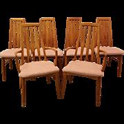 Set of 6 Mid-Century Danish Modern Niels Kofoed for Hornslet Teak Dining Chairs
