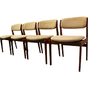 Set of 4 Mid-Century Danish Modern Scandinavian Teak Dining Chairs #2