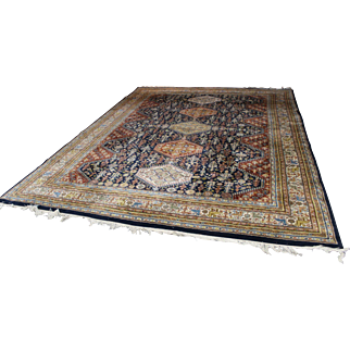 Hand Knotted Wool A. Heriz Persian Room-Size Rug 9' x 12'-Super High Quality