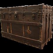 Antique Steam Punk Drucker Steamer Trunk/Chest