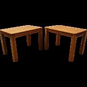 Pair of Mid Century Danish Modern Teak End/Side Tables