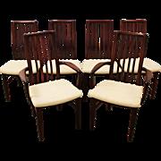 Set of 6 Mid Century Danish Modern Rosewood SVA Mobler Dining Chairs