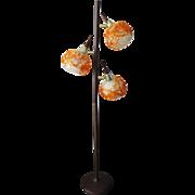 Mid-Century Danish Modern Retro Atomic Spaghetti Spun Fiberglass Floor Lamp