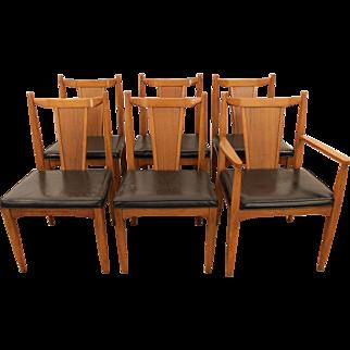 Set of 6 Mid Century Danish Modern Teak Dining Chairs