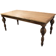 "Country French FARM Primitive Rustic Dining Table Grey 72"" Long"