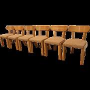 Set of 6 Mid-Century Danish Modern Edward Wormley for 'Precedent' by Drexel Birch Dining Chairs