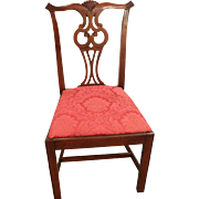 Chippendale Mahogany Hickory Chair Co. Side Dining Chair