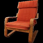Mid-Century Danish Modern Bentwood Plyform Lounge Chair