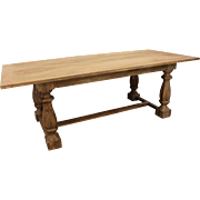 "Large Country French Farm 90"" Dining Table"
