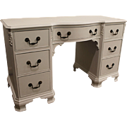 Country French White Chalk Painted Vanity/Desk