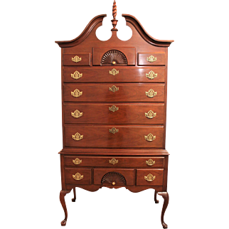 Traditional Chippendale Cherry Queen Anne American Masterpiece Hickory Highboy