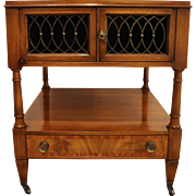 French Regency Burled Wood Parque Top Side/End Table