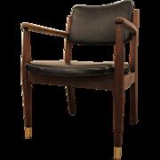 Mid-Century Danish Modern Walnut Open Arm Lounge Chair #3