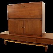 Mid-Century Modern Merton Gershun American of Martinsville Lighted Bar Cabinet