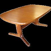 "Mid-Century Danish Modern Extendable Niels Moller-Style Teak Dining Table 101"""