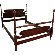 Traditional Mahogany Chippendale Kling Pineapple Full Size Bedframe