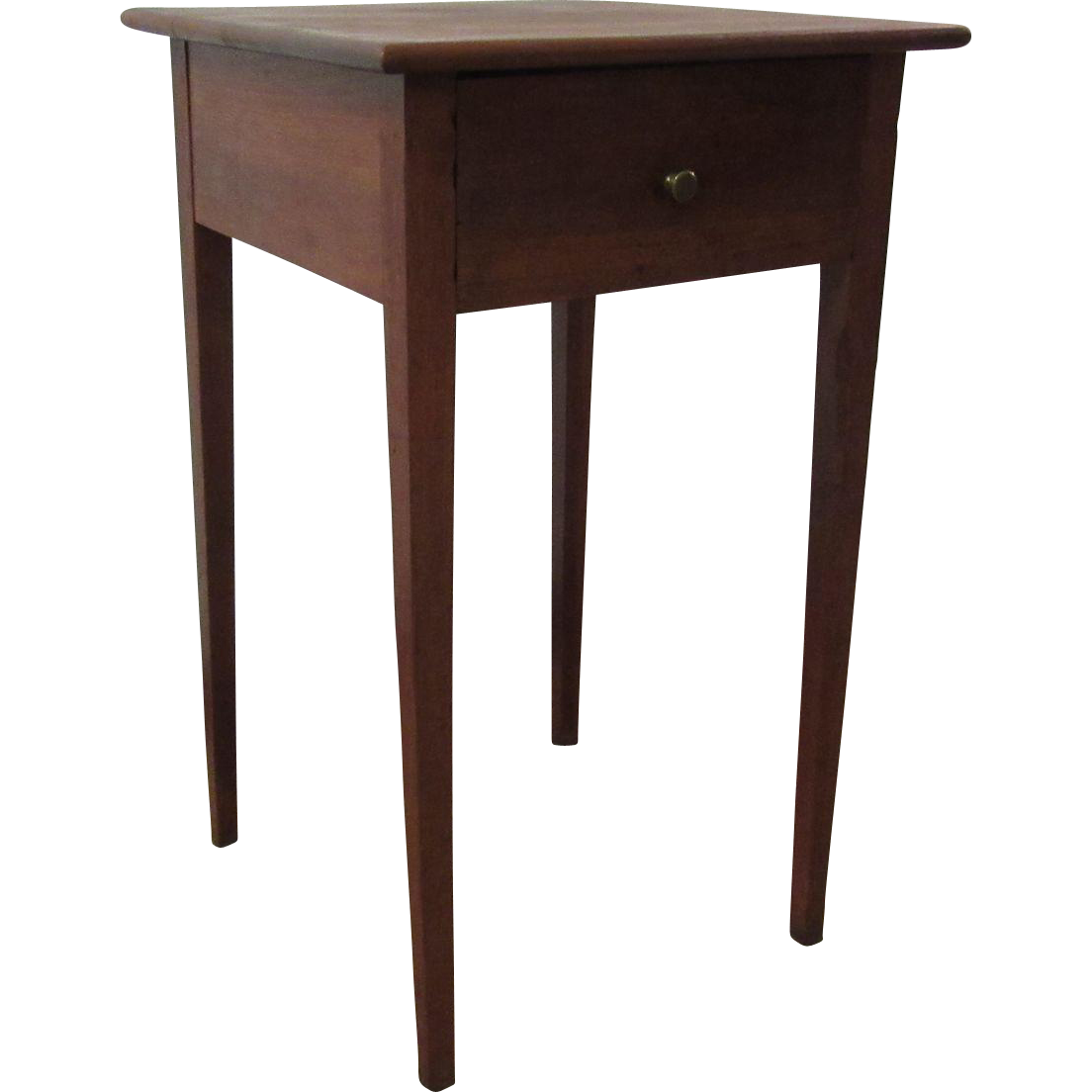 Antique mahogany 1 drawer federal style table stand sold for 1 x 2 table