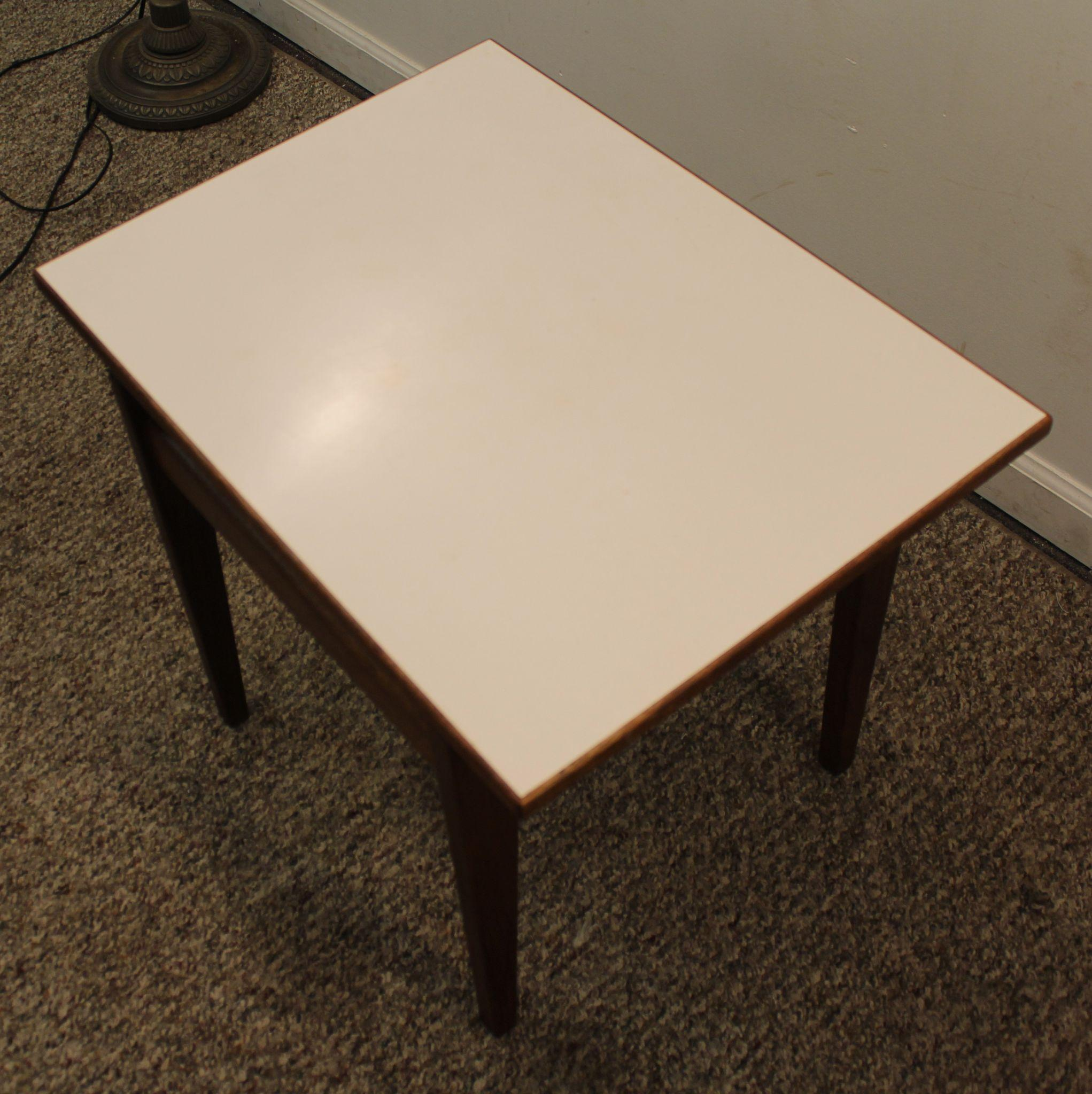 Mid Century Danish Modern Floating Top Jens Risom Side Table from