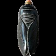Pietersite Hard-stone Cicada Form Snuff Bottle