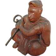 Wood Carving of the Japanese Monkey God dressed as a Shinto Priest
