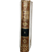"1813 All Leather French Language Book 6 1/2 X4 1/4 IN. 1ST Edition,""Abrege DE L'Historie Romaine, VOL 4"