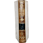 "1813 ALL LEATHER FRENCH LANGUAGE BOOK 6 1/2 X4 1/4 IN. 1ST ED,""ABREGE DE L'HISTOIRE ROMAINE"", VOL 5."