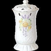 BELLEEK Limited Edition #1000/3350 Glendarragh Covered Vase